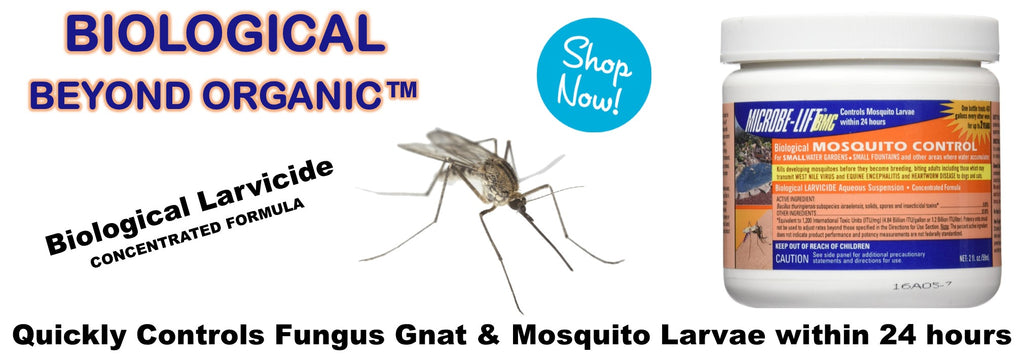 microbe-lift BMC microbe-lift biological mosquito control fungus gnat control white fly control root aphid control mite control biological larvicide rocky mountain bioag