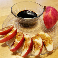 Hot Honey Balsamic Glaze with apples