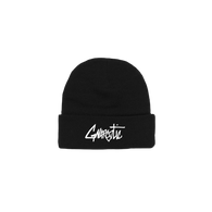 OG LOGO BEANIE - BLACK WITH WHITE LOGO