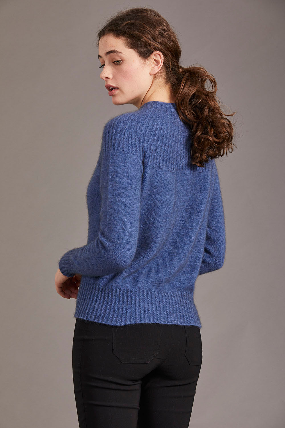 Possum Merino Yoke Neck Cable Jersey