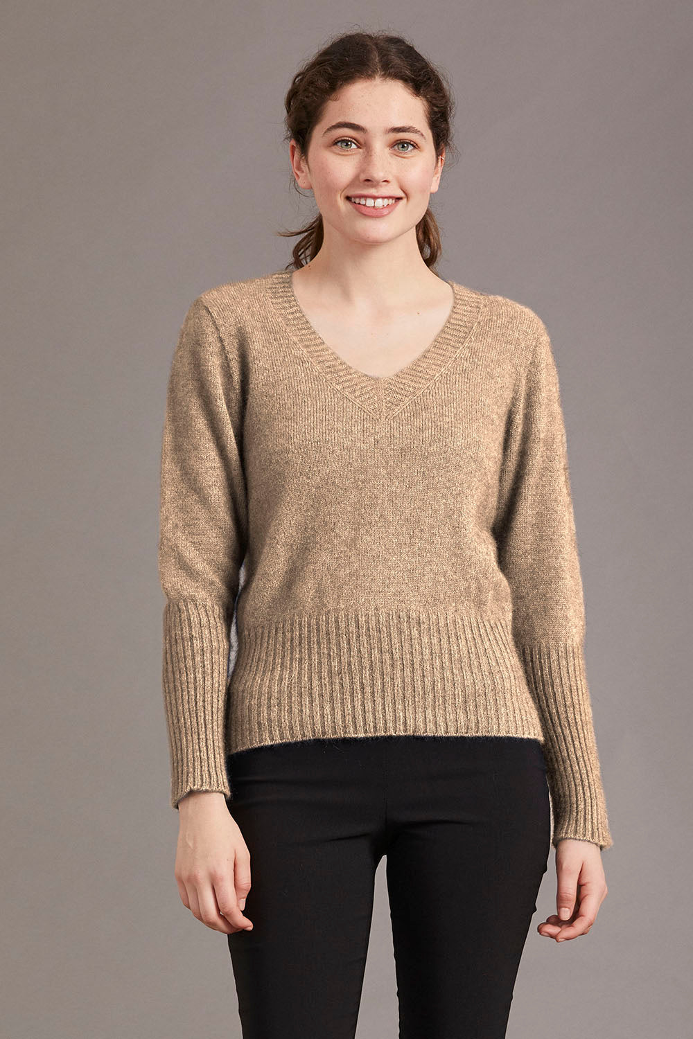 Possum Merino High Rib Jumper