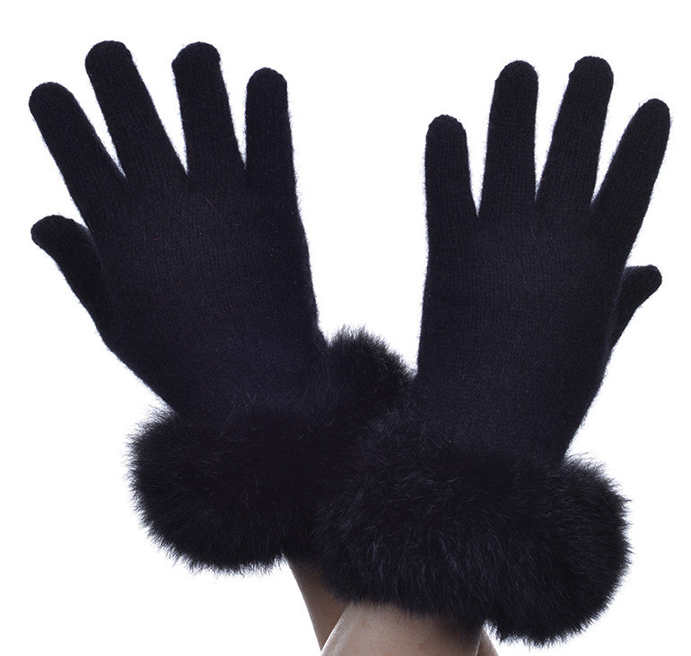 Possum Merino Fur Trim Glove