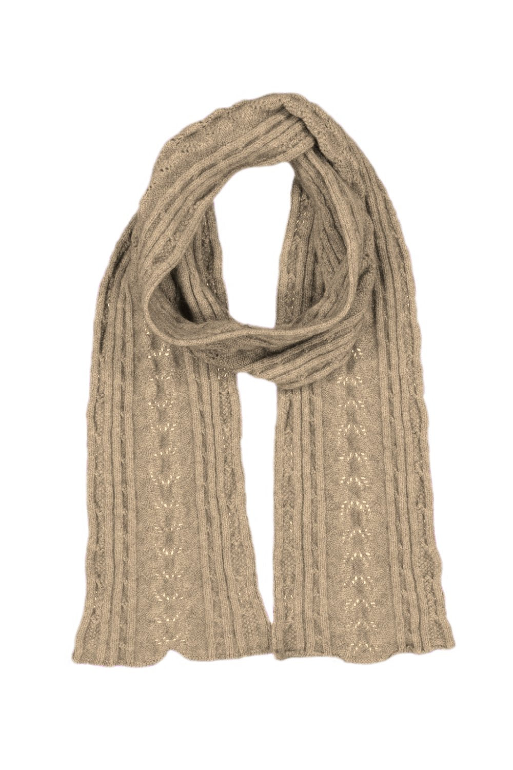 Possum Merino Cable Scarf