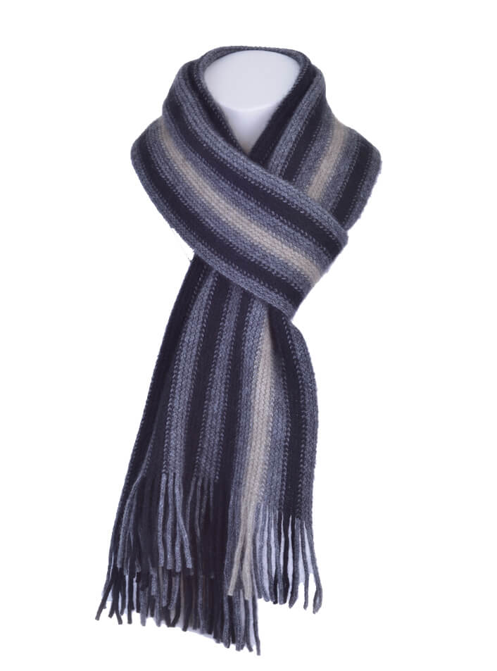 Possum Merino Wide Offset Stripe Scarf