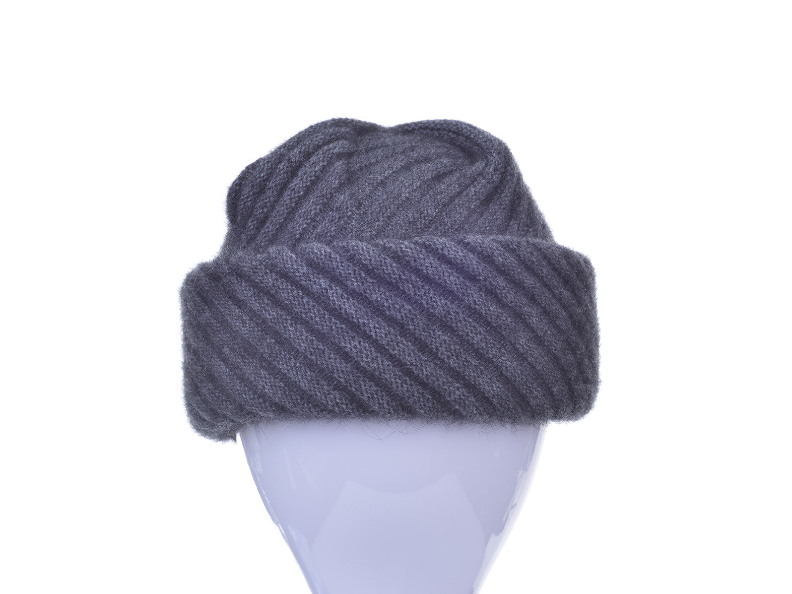 Possum Merino Rib Hat with Pleated Top