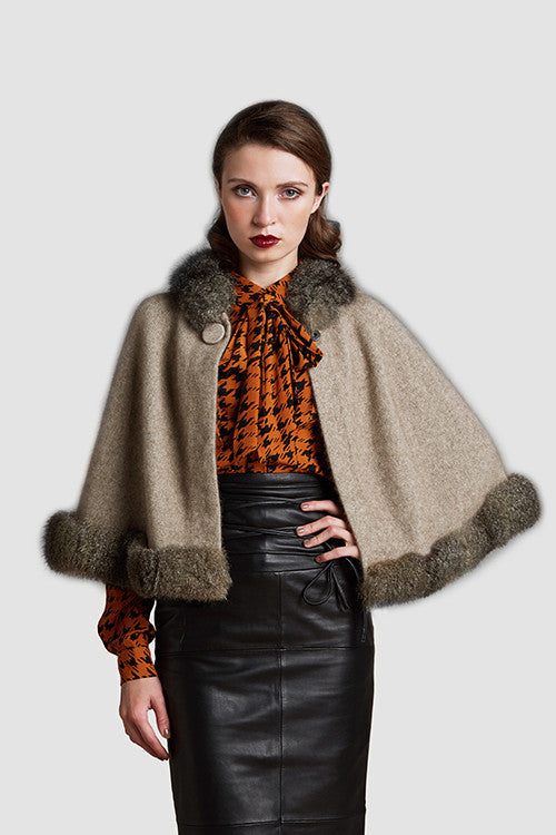 Possum Fur Trim Cape