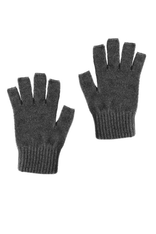 Possum Merino Open Finger Gloves Pewter