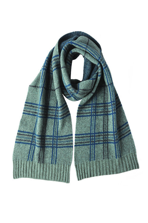Possum Merino Broad Check Scarf