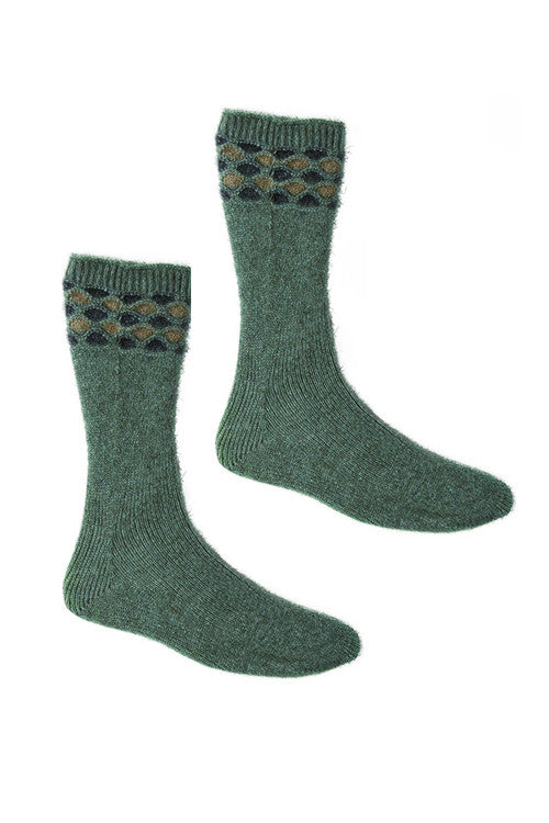 Possum Merino Wave Sock Mint