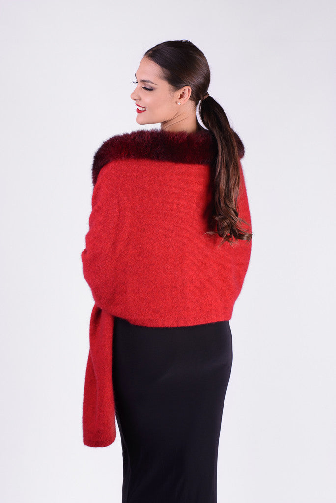 Possum Merino Fur Shrug Wrap