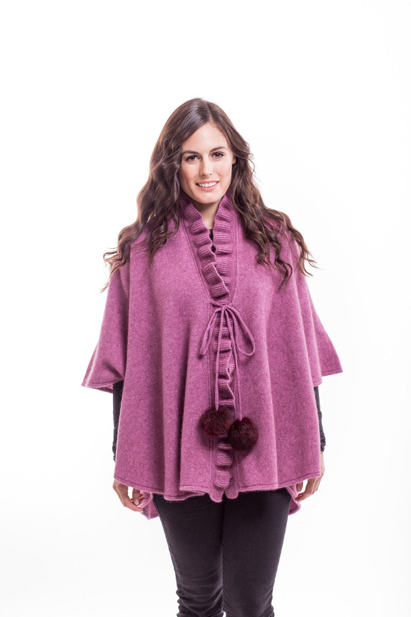 Possum Merino Ruffle Cape