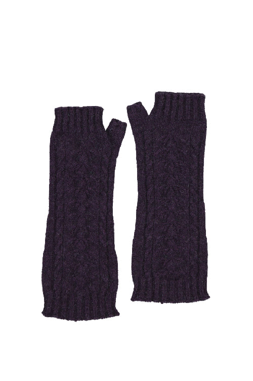 Possum Merino Open Finger Cable Gloves