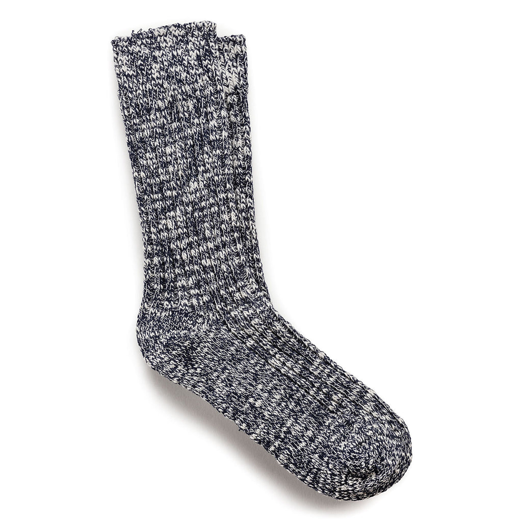 Sock Cotton Slub : Blue/White