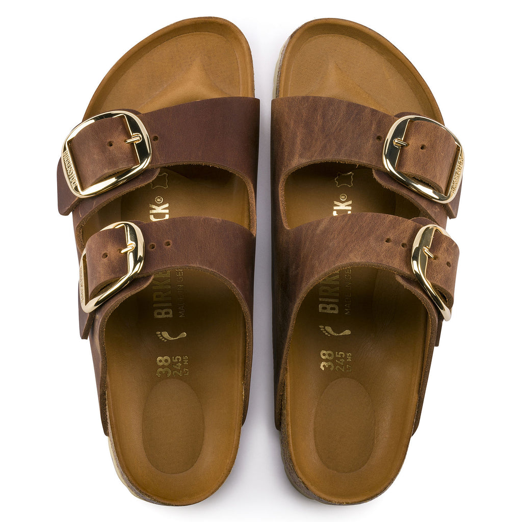 Arizona Classic Footbed : Big Buckle Cognac (Women)