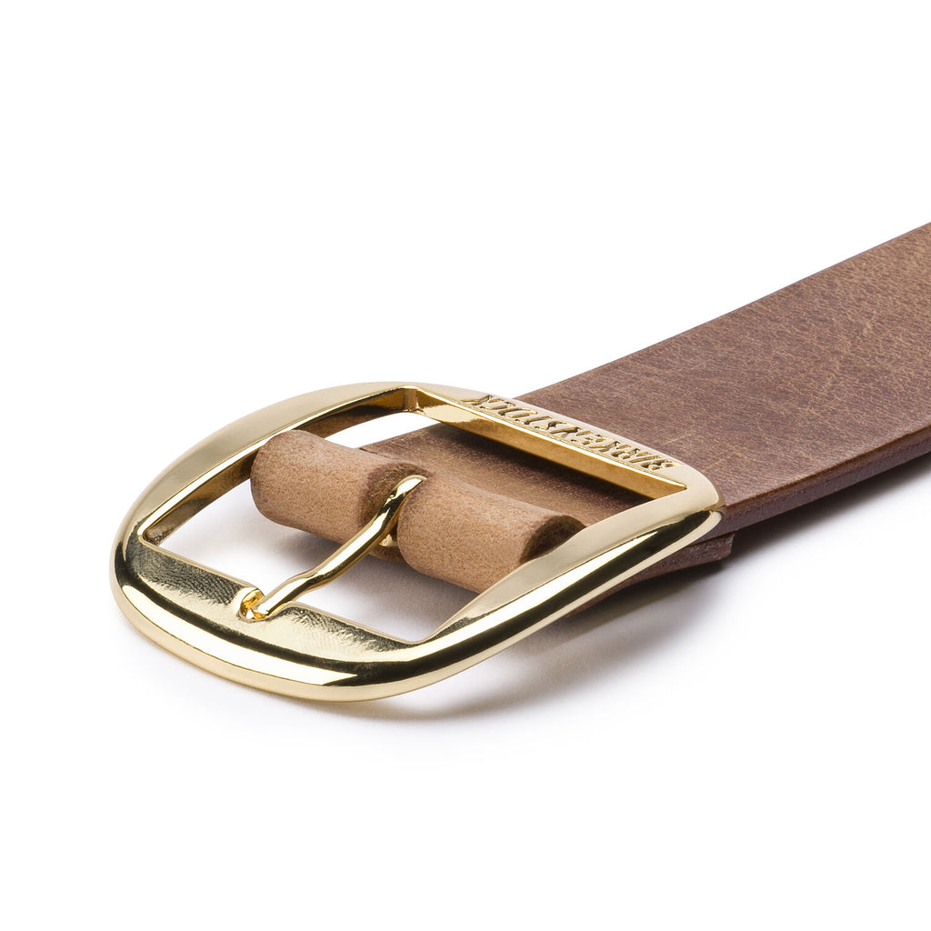 Kansas Big Buckle Belt : Cognac