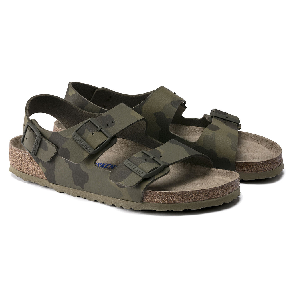Milano Soft Footbed : Camo Green