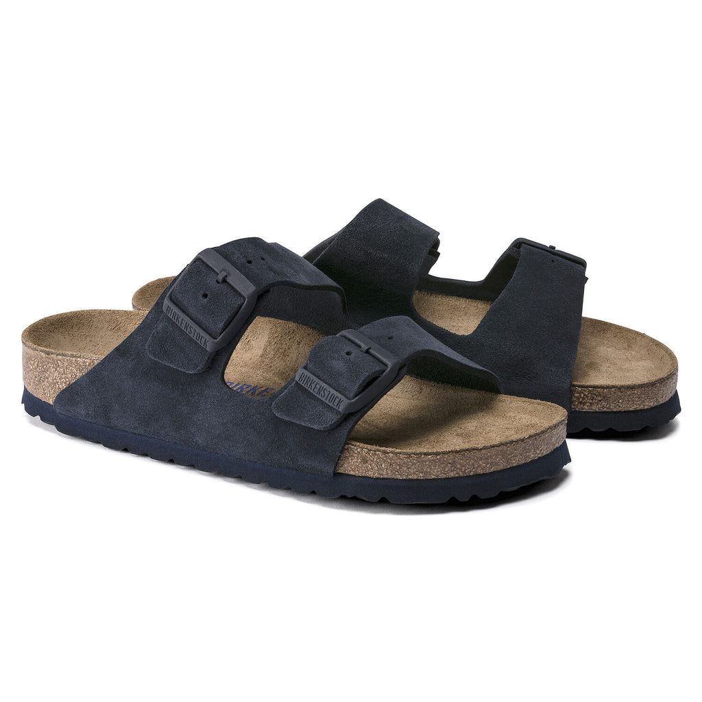 Arizona Soft Footbed : Night Blue Suede