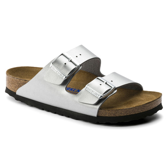 Arizona Soft Footbed : Silver Synthetic