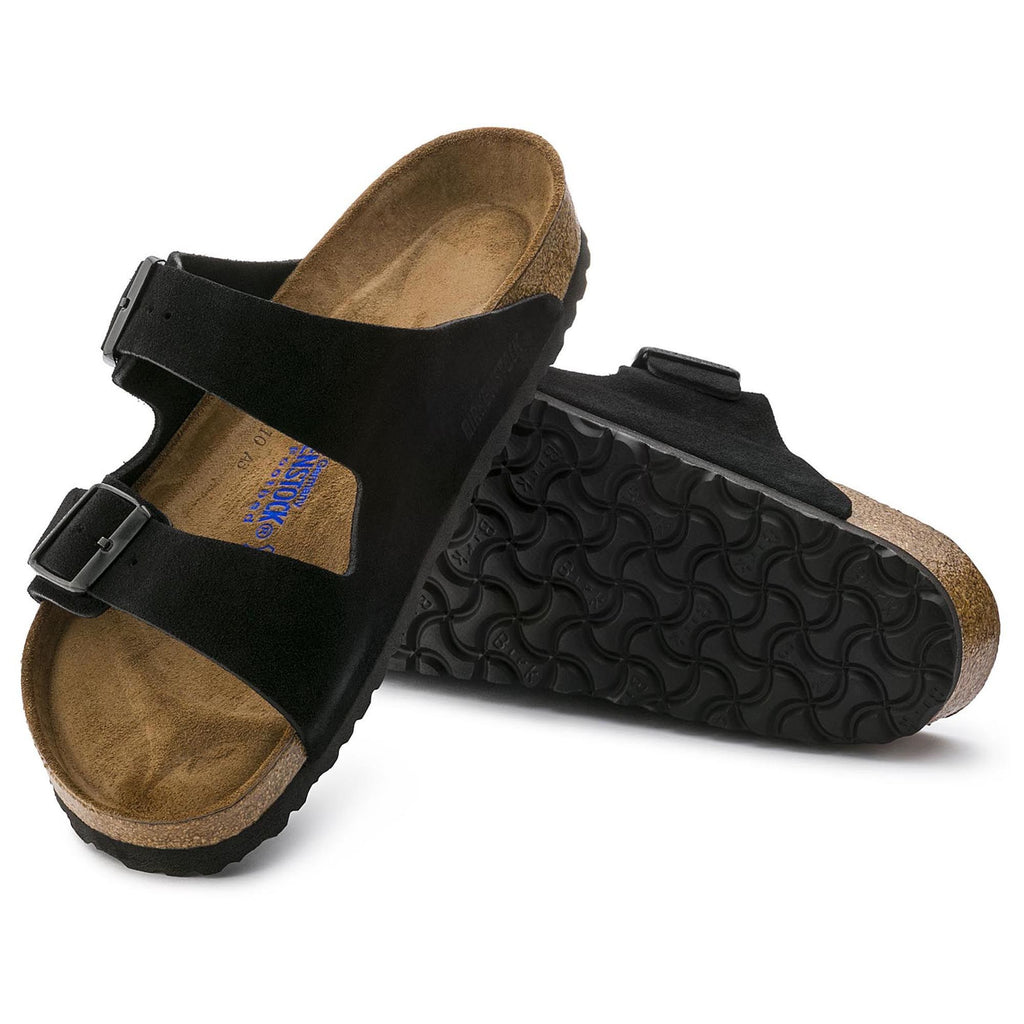 Arizona Soft Footbed : Black Suede