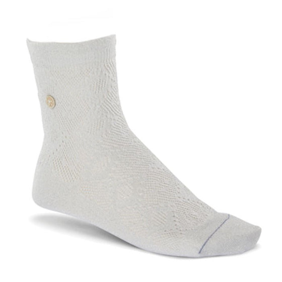 Sock Cotton Bling Ajour: White