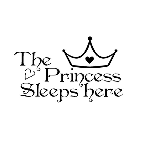 """The Princess Sleeps Here"" - Wall Sticker - AwesomeGiftAT"