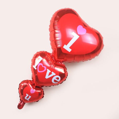 """I love u"" - Folienballon XL - AwesomeGiftAT"
