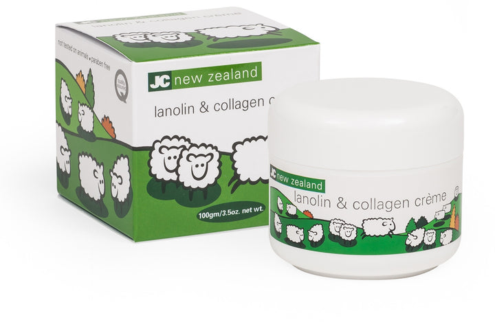 JC new zealand lanolin and collagen face cream