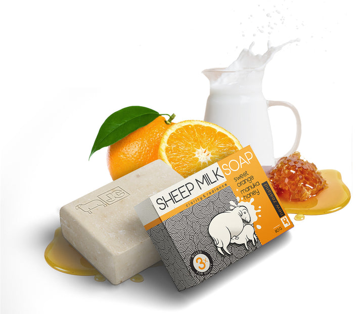 Sheep Milk Soap - Sweet Orange & Manuka Honey
