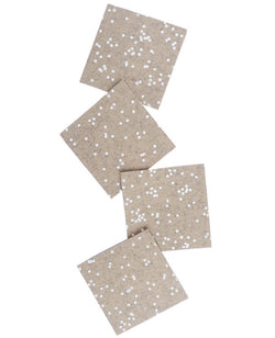 Cotton and Flax Latte Confetti Coasters - Anderson Road Co.