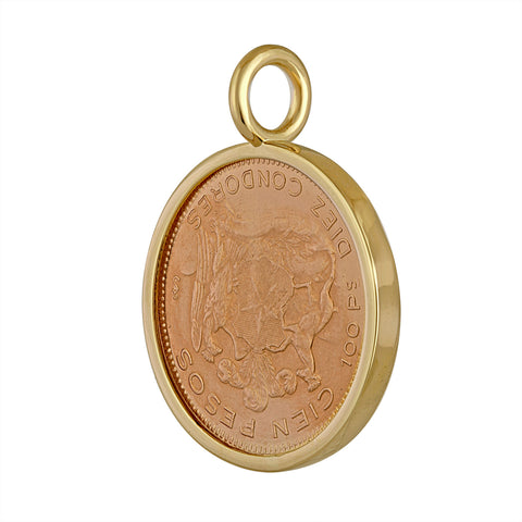 Chile 100 Peso Gold Coin Pendant Back