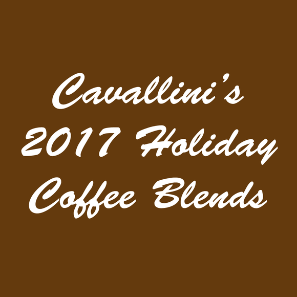 Cavallini's 2017 Holiday Blend Coffees