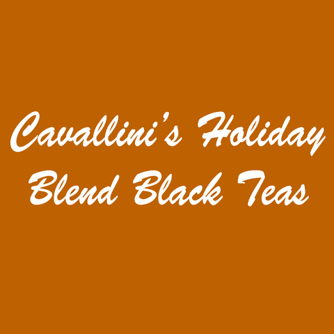 Cavallini's Holiday Blend Black Teas
