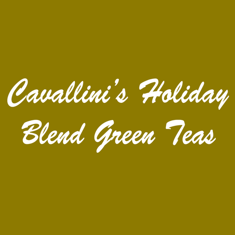 Cavallini's Holiday Blend Green Teas