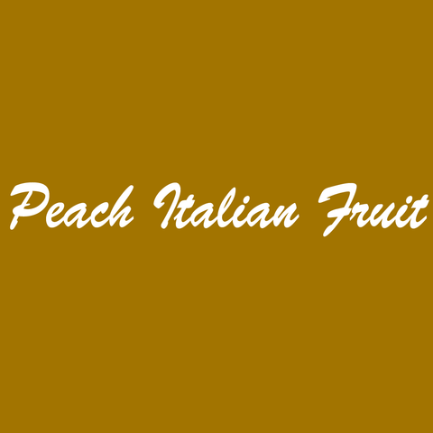Peach Italian Fruit