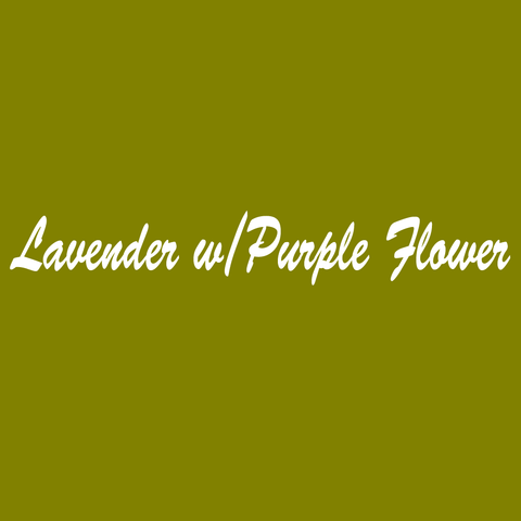 Lavender w/Purple Flower