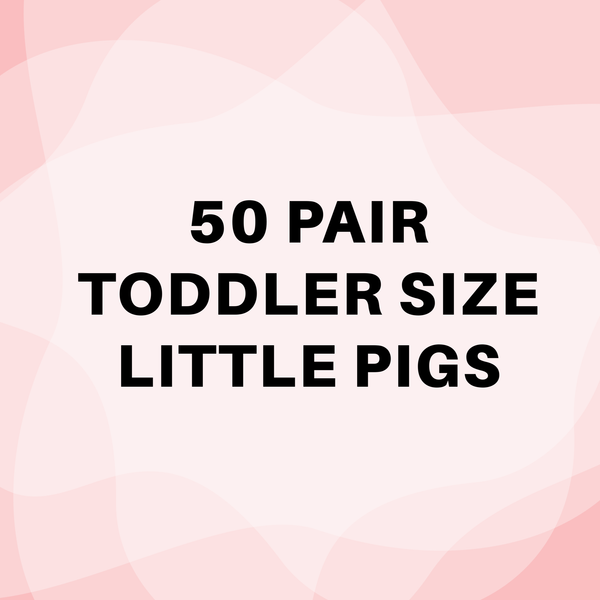50 Pair TODDLER Sized Little Pigs