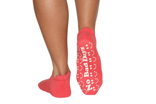 No bad days fall coral - BarreSocks