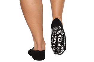 Will Plank For Pizza Ballet Socks - BarreSocks