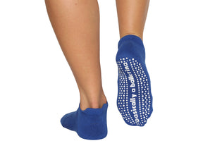 Basically A Ballerina Blue Ankle Socks - BarreSocks