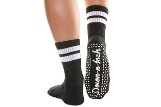 Up Down An Inch Calf High Socks - BarreSocks