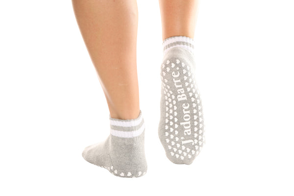J'Adore Barre Crew Ankle Socks - BarreSocks