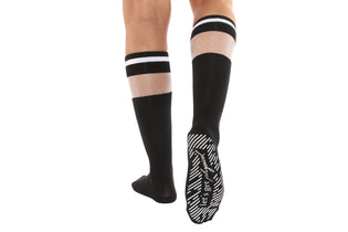 Let's Get Physical Sheer Cut-Out Calf-High Socks - BarreSocks