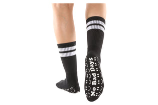 No Bad Days Black Mid-Calf High - BarreSocks