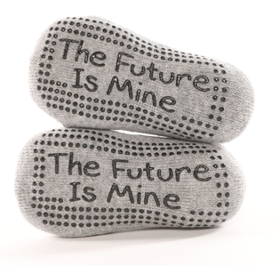 The Future Is Mine Gray Tot - BarreSocks