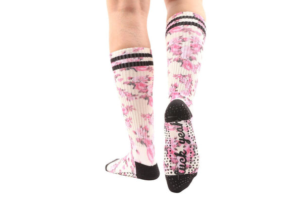 Tuck Yeah Floral Calf-High Socks