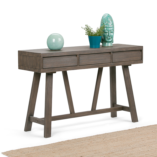 Dylan 48 x 15 inch Hallway Console Table in Driftwood Finish