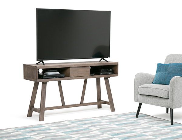 Dylan 54 inch TV Media Stand for in Driftwood Finish
