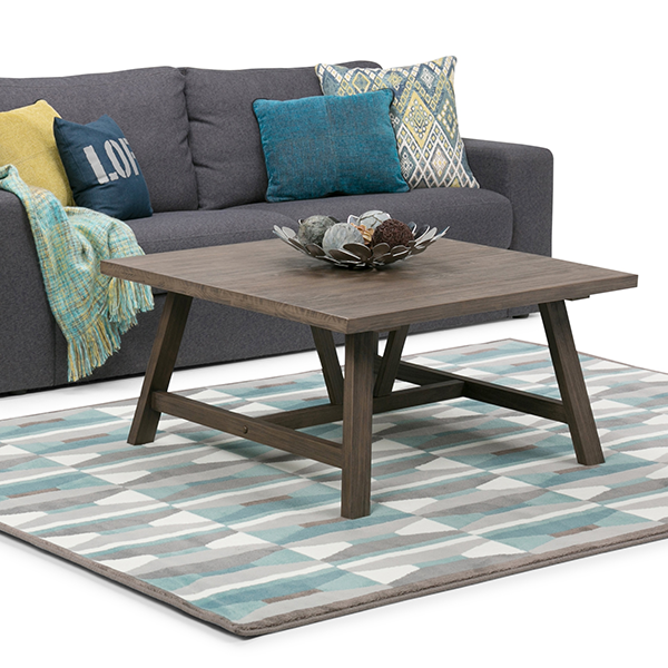 Dylan 36 inch Square Coffee Table in Driftwood Finish