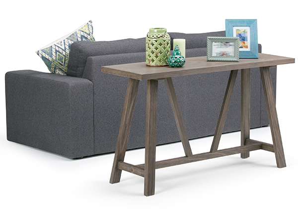 Dylan 50 inch Console Sofa Table in Driftwood Finish