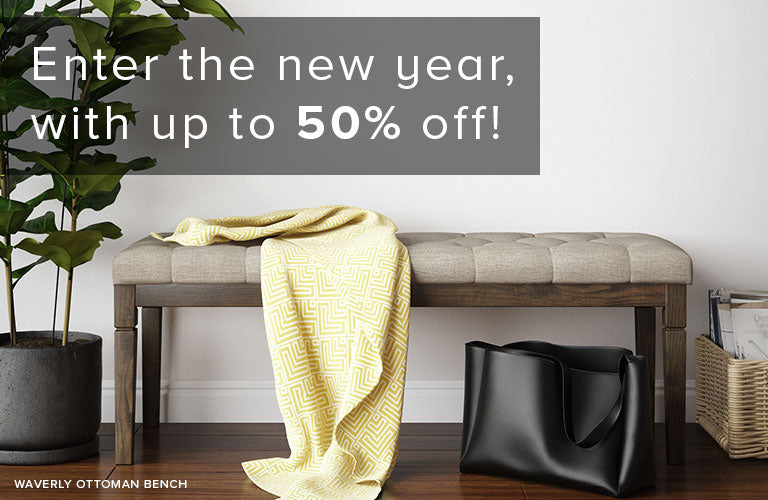 Enter the New Year with up to 50% Off